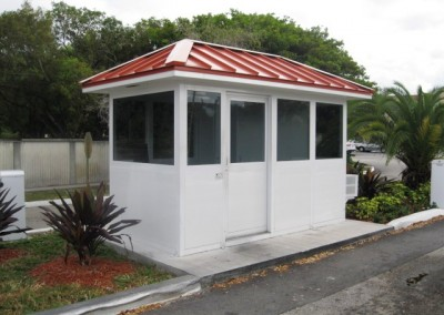 aluminum security booth