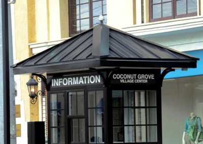 prefab information booth