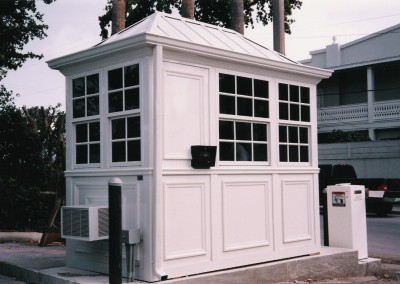 prefabricated parking booth
