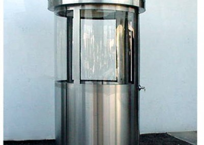 Round Stainless Steel Guard Booth