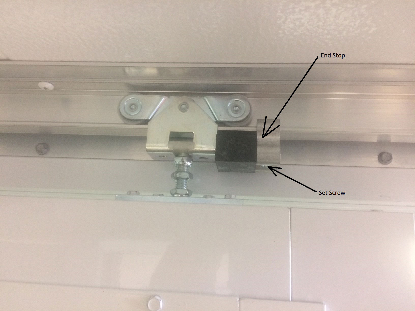 How To Adjust A Top Suspended Sliding Door Of A Guard Booth Guard