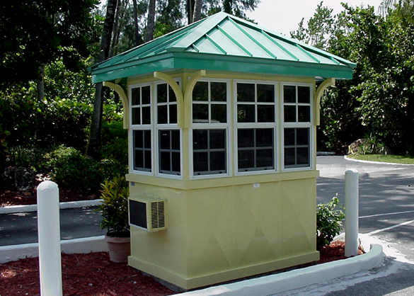 Guard Booth Painted Surface Maintenance