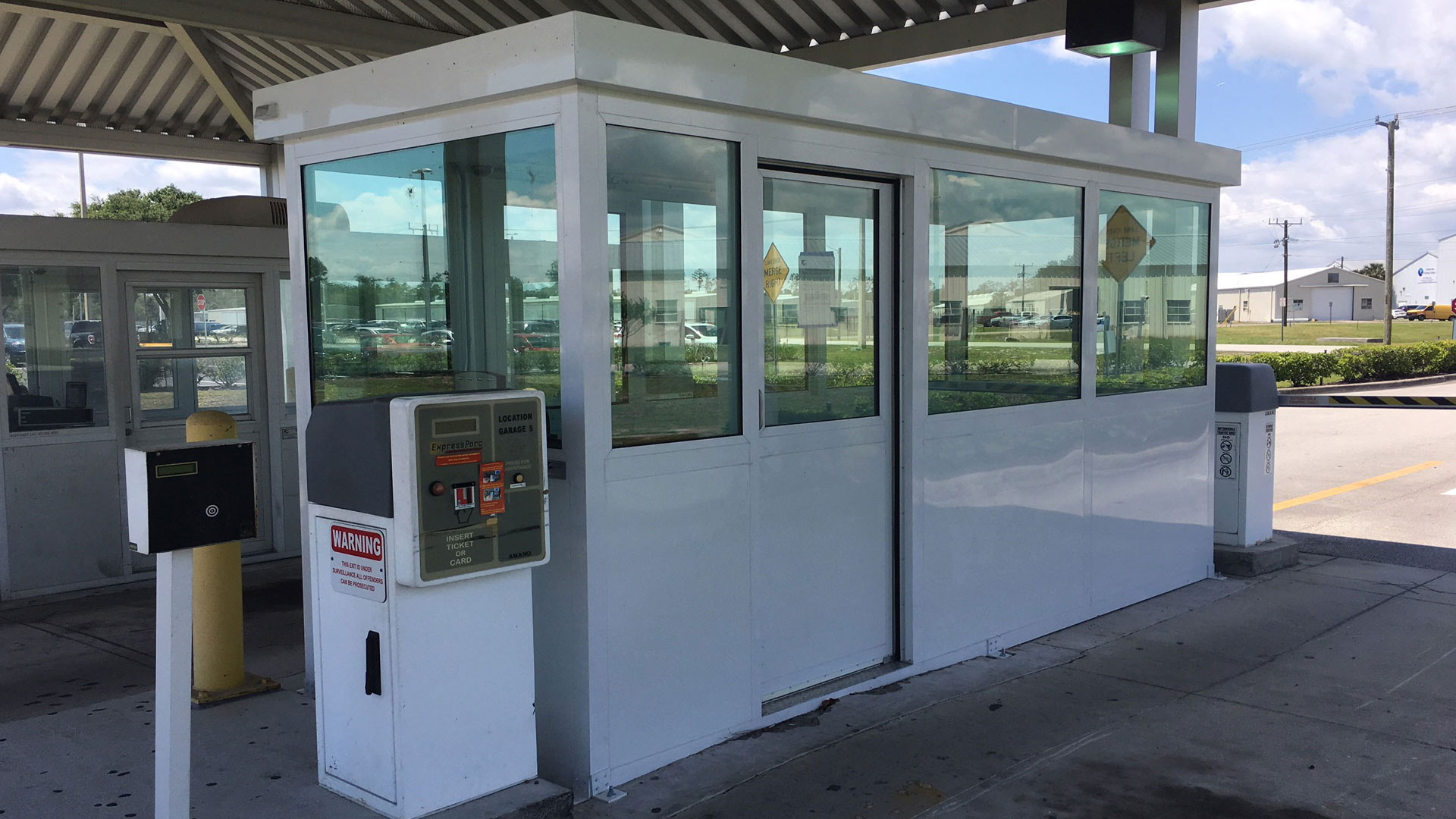 Parking Booth with a Sliding Door